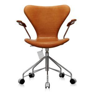 NY Arne Jacobsen 3217 Vacona Cognac Anilin
