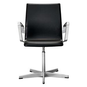 Arne Jacobsen Oxford Original sort læder 6 stk.