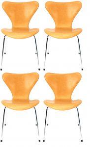 4 stk. Arne Jacobsen Syveren 3107 Natur anilin