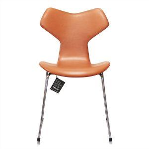 Arne Jacobsen 3107 Alaska Cognac Anilin Ny stol