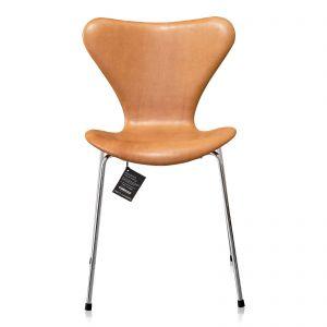 6 stk. Arne Jacobsen Syveren 3107 Vacona Nougat Anilin Nye stole