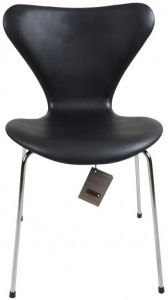 Arne Jacobsen 3107 Alaska Sort Anilin Ny stol