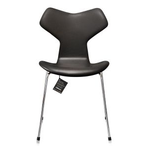 NY Arne Jacobsen Grand Prix 3130 Classic Sort Semi Anilin