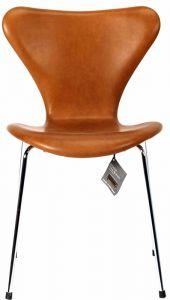 Arne Jacobsen Syveren 3107 Vacona Nougat Anilin Ny stol