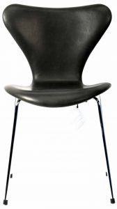 Arne Jacobsen Syveren 3107 Vacona Sort Anilin Ny stol