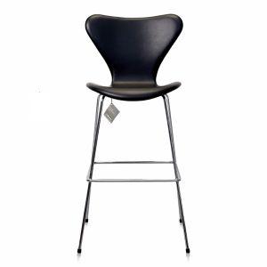 NY Arne Jacobsen Barstol 3187/3197 Classic Svart lær