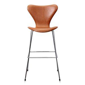 NY Arne Jacobsen Barstol, modell 3197  Legance anilin - Låg modell 64 cm