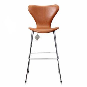 NY Arne Jacobsen Barstol Model 3187/3197 Legance Cognac