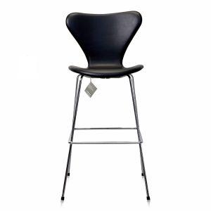 NY Arne Jacobsen Barstol 3187/3197 Nevada Sort Anilin