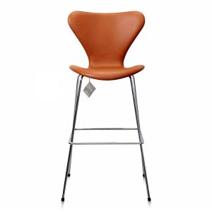 Ny Arne Jacobsen Barstol Model 3187/3197 Elegance Walnut Anilin