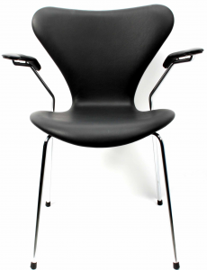 Arne Jacobsen Syveren 3207 Alaska Sort Anilin