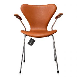 8 stk. Arne Jacobsen Syveren 3207 Alaska Cognac Anilin Nye stole