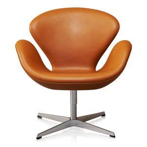 Arne Jacobsen Svanen Classic Cognac Semi Anilin