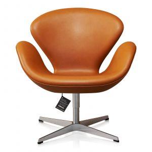 NY Arne Jacobsen Svanen Classic Cognac Semi Anilin