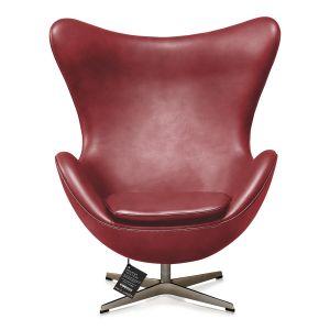 NY Arne Jacobsen Ægget originalt Elegance Indian Red Anilin