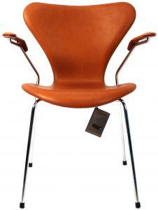 Arne Jacobsen Syveren 3207 Alaska Cognac Anilin Ny stol