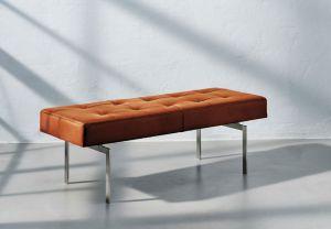 Re•Seat X1 Alaska Cognac Anilin Rustfrit Stål
