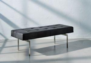 Re•Seat X1 Classic Sort Semi Anilin Rustfrit Stål