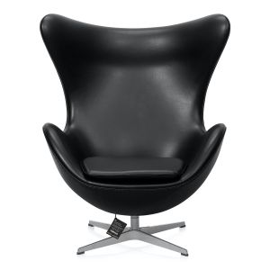 NY Arne Jacobsen Ægget Classic Sort Semi Anilin