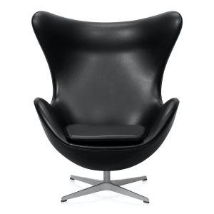 Arne Jacobsen Ægget Classic Sort Semi Anilin