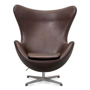 NY Arne Jacobsen Ægget Elegance Mokka Anilin læder