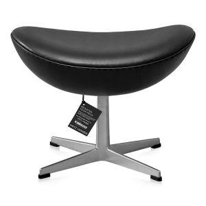 NY Arne Jacobsen Skammel 3127 Classic Sort Semi Anilin