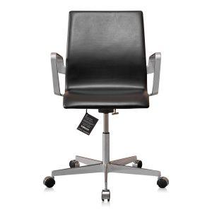 NY Arne Jacobsen Oxford kontorstol med lav ryg Classic Sort