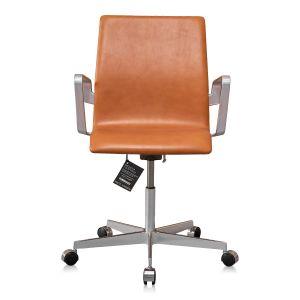 NY Arne Jacobsen Oxford kontorstol med lav ryg Elegance Walnut