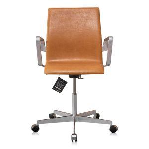 NY Arne Jacobsen Oxford kontorstol med lav ryg Vacona Nougat
