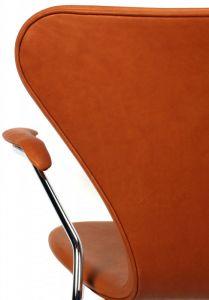 Arne Jacobsen 'Syveren' - Alaska Cognac Anilin Læder