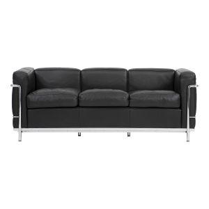 (Ny) Le Corbusier sofa, LC 2/3 sort læder