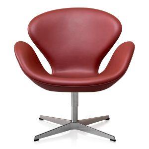 Arne Jacobsen Svanen Originalt Elegance Indian Red Anilin