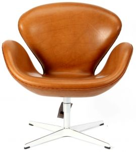 NY Arne Jacobsen Svane i Alaska Cognac Anilin