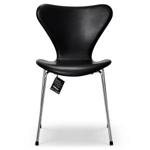 Arne Jacobsen Sjuan 3107 Classic Cognac läder Ny stol